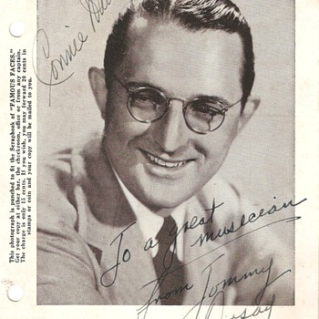 """Big Band"" Era Autographed Photo Cards - Photographs"
