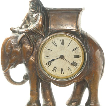 Elephant Cast Front Clock, ca. 1890 - 1895