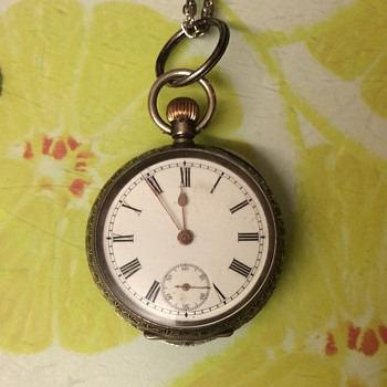 Omega 935 fine silver ladies pocket watch Swiss