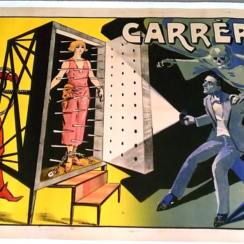 "Original 1920 ""Carrere"" Stone Lithograph Magic Poster"
