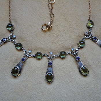 Art Nouveau Suffragette necklace, by Murrle Bennett? c. 1900 - Fine Jewelry