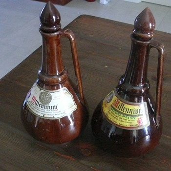 Polish ceramic mead decanters