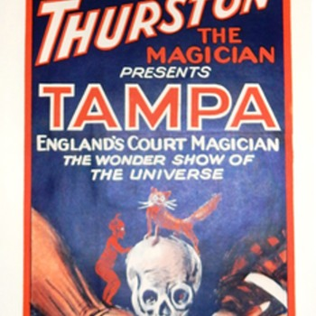 "Thurston Presents Tampa England's Court Magician ""Devil Panel"" - 1926"