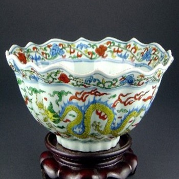 """Wucai"" Ming Porcelain, From The Wanli Period 1573-1619 - Asian"