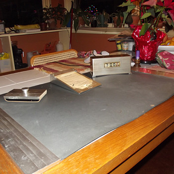 "Smith Metal Arts ""Moon Crest"" Desk set, 1940-45"