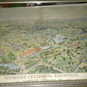 Vintage Newspaper Ad for Tennessee Centennial