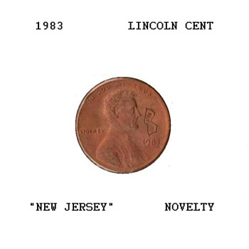 "1983 - Souvenir Penny ""New Jersey"" - US Coins"