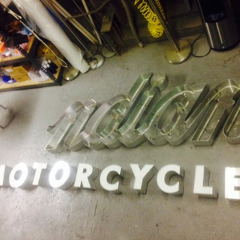 Indian motorcycle sign - Signs