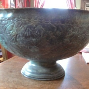 Standing Metal Bowl
