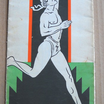 40's Marathon Oil Co. Running Man Oklahoma Map