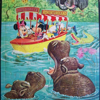 1950s Walt Disney's Adventure Land  Mickey Puzzle  - Games