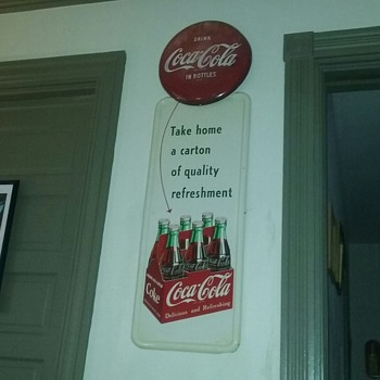 1951 coca-cola six pack sign