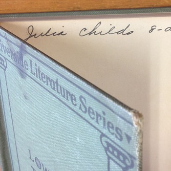 Julia Child signed poetry book