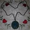 Vintage Faux Turquoise Pendant Necklace