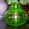 Uranium glass vase unknown maker ??
