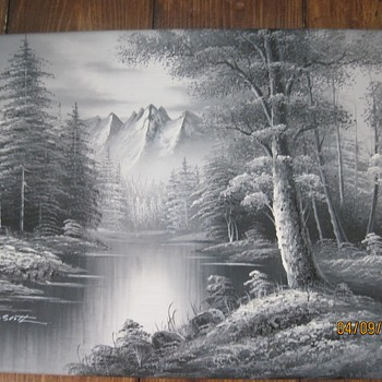 2 M. Scott Black and White Paintings - Visual Art