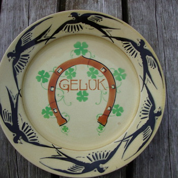luck platter by petrus regout - China and Dinnerware