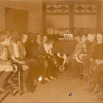 Singing class of  boys from 1900 - Photographs