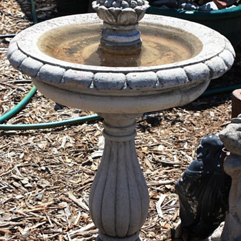 Birdbath - 50s, maybe?