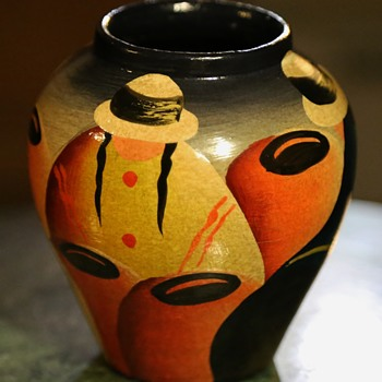 Painted Urn / Vase - Pottery