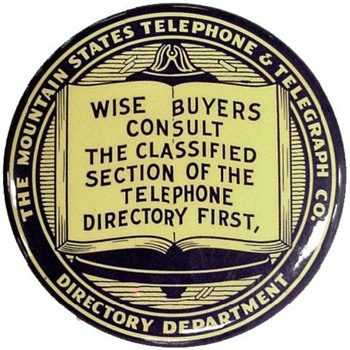 Mountain States Telephone Advertising Mirror - Advertising