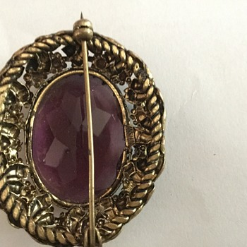 Two Very old pieces I am curious about. One says Austria on the back - Costume Jewelry
