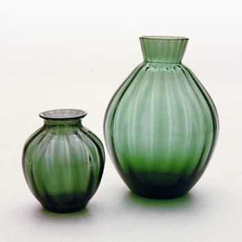 MOSGRØN vases, Per Lütken (Holmegaard, 1955) - Art Glass