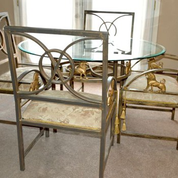 Lion Glass Table & Chairs??? - Furniture
