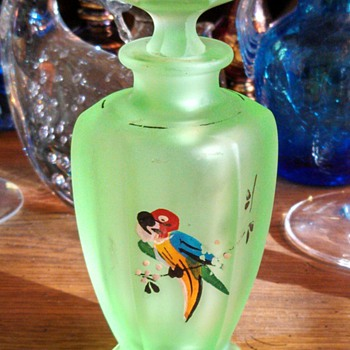 Uranium glass Perfume Bottle! - Bottles