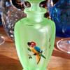 Uranium glass Perfume Bottle!