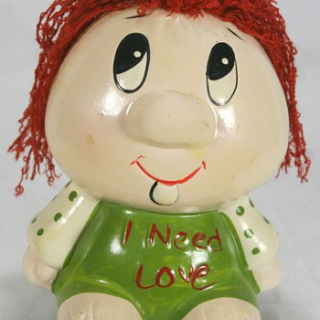 "Cute Vintage Piggy Bank ""I Need Love"""