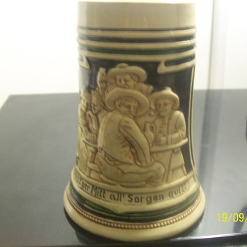 vintage beer mug from germany  number 1041 - Breweriana