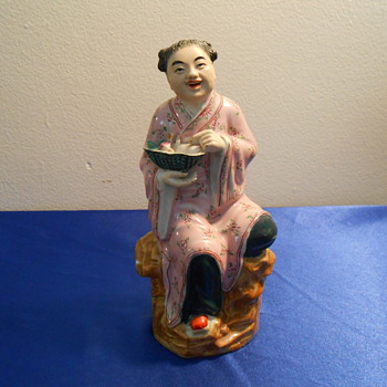 Vintage Porcelain I think Chinese Lady - Pottery