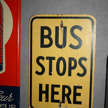 bus stop sign - Signs