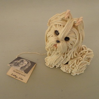 Wise Crackers Hand Molded 1981 A Kathy Original Dog Nice! Vintage - Art Pottery