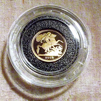 2009-22ct quarter gold sovereign-case-box-coa. - World Coins