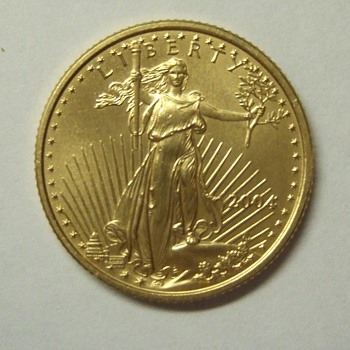 2004 10 dollar 1/4 of an ounce fine gold - US Coins