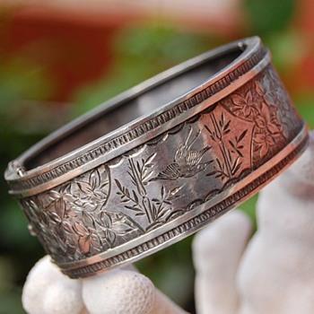 British silver Aesthetic period bracelet ca. 1880s - Victorian Era