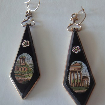 Micro Mosaic earrings - Fine Jewelry