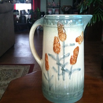 Roseville Goldenrod Pitcher 1900-1915 - Art Pottery