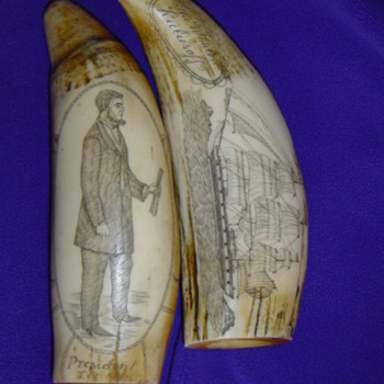 A Great Mystery to Solve - 1800's Sperm Whale Scrimshaw Validity - Please Help Me Identify! - Folk Art
