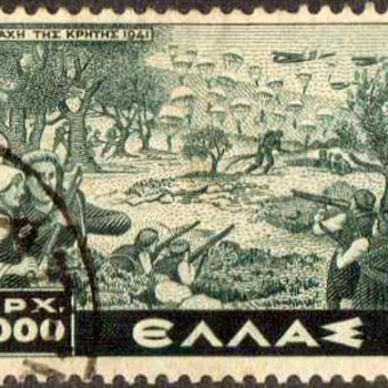 "1948 - Greece ""Battle of Crete"" Postage Stamp"