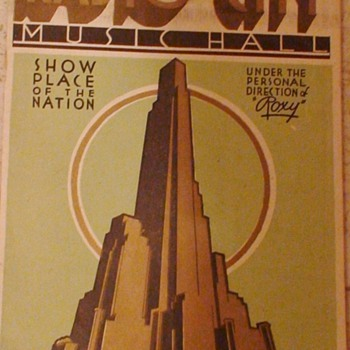 Radio City Music Hall Program 1930s