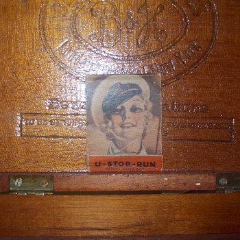 Cigar box, striker matches
