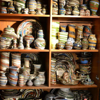 Cabinet full of Desert Sands Pottery