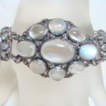 Fabulous Antique Moonstone Bracelet - Fine Jewelry