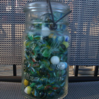 Jar-O-Marbles - Art Glass