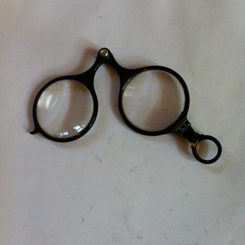 Antique turtle shell glasses.