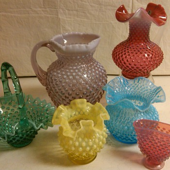 MORE ITEMS FROM MY FENTON HOBNAIL COLLECTION - Glassware
