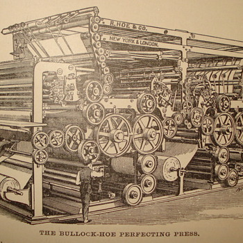 "R. HOE & COMPANY NEW YORK CITY ""PRINTING PRESS"" NEED YOUR HELP DECIDING WHAT TO DO ON SECOND PICTURE - Books"